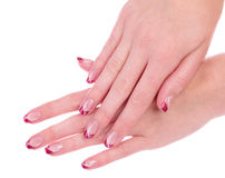 Beautiful manicure Royalty Free Stock Photography