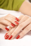 Beautiful manicure Stock Images
