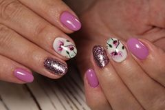 beautiful manicure design Stock Image