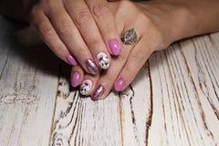 beautiful manicure design Royalty Free Stock Photography