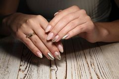 beautiful manicure design Royalty Free Stock Image