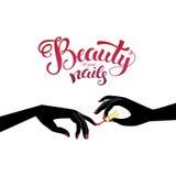 Beautiful manicure illustration Stock Photos