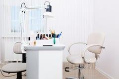 Beautiful manicure room Stock Image
