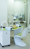 Beautiful manicure room in a modern beauty salon Royalty Free Stock Photography