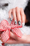 Beautiful Manicured And Gel Polished Winter Nails Royalty Free Stock Images