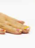 Beautiful manicured womans nails Royalty Free Stock Photos