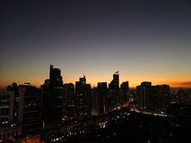 Beautiful Manila at Night. The beauty in a crowded city. stock images