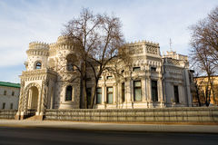 Beautiful mansion in the Moorish style near the metro station Ar. Batskaya in Moscow. Russia Stock Images