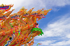 Beautiful many dragon with blue sky in thailand Stock Image
