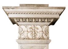 Beautiful marble architectonic decoration with floral elements Stock Photo