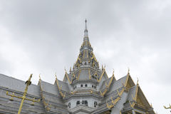 Beautiful marble church/temple Wat Sothorn, Thailand. Royalty Free Stock Photo
