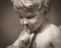 Beautiful marble statue of angel Royalty Free Stock Image