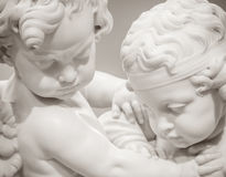 Beautiful marble statue of angels Royalty Free Stock Photography