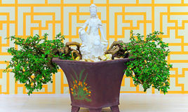 Beautiful marble statue of quan yin or quan am Stock Images