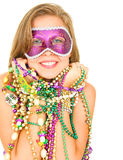 Beautiful Mardi Gras Queen Smile Royalty Free Stock Images