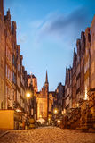 Beautiful Mariacka Street in Gdansk Old Town Poland Stock Photos