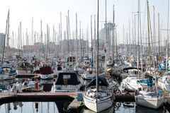 A beautiful marina in Barcelona Royalty Free Stock Image