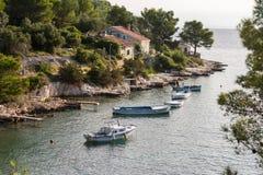 Beautiful marina Valdarke Losinj Royalty Free Stock Photography