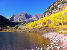 Beautiful Maroon Bells Stock Image