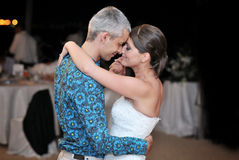 Beautiful married couple dance Stock Photography