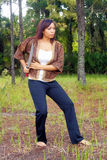 Beautiful Martial Artist Outdoors (4) Royalty Free Stock Image