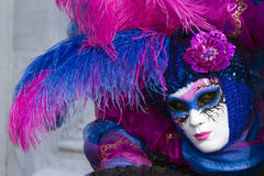 Beautiful mask at carnival in Venice Stock Photos