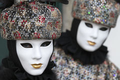 Beautiful mask at carnival in Venice Stock Images