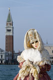 Beautiful mask at carnival in Venice Royalty Free Stock Photos
