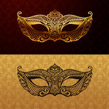 Beautiful mask of lace. Mardi Gras vector background Royalty Free Stock Photography
