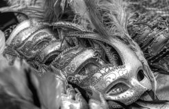 Beautiful masks for parties, carnivals, and sensual events. Disturbing masks for nightmares and dreams stock photos