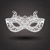 Beautiful Masquerade Mask (Vector). On Ornate Background Royalty Free Stock Image