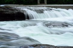 Beautiful massive river flow and waterfalls in summer Royalty Free Stock Photography