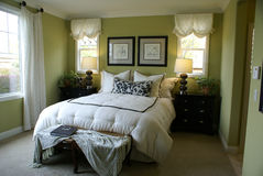 Beautiful Master Bed Room stock photography