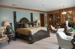 Beautiful master bedroom Royalty Free Stock Images