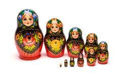 Beautiful matryoshka russian doll. Beautiful nesting doll handmade on a white background Royalty Free Stock Photography
