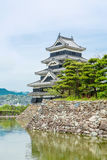 Beautiful Matsumoto castle in Japan in spring Stock Images