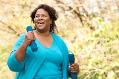Free Beautiful Mature African American Woman Smiling And Laughing. Royalty Free Stock Photography - 164095547