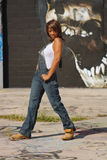 Beautiful Mature Black Woman with Graffiti (10) Stock Photos
