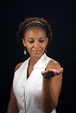 Beautiful Mature Black Woman with Palm Extended (1 Stock Photos