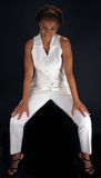 Beautiful Mature Black Woman Sitting Straddle Stock Photography