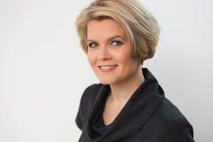 Beautiful mature blond woman Stock Images