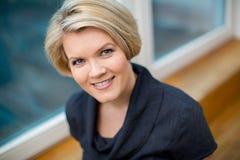 Beautiful mature blond woman Royalty Free Stock Image