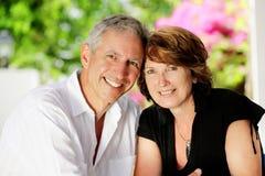 Beautiful mature couple Stock Photos
