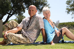 Beautiful mature couple Stock Images