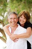 Beautiful mature couple having fun Royalty Free Stock Photos