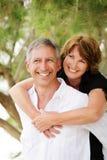 Beautiful mature couple having fun royalty free stock photos