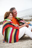 Beautiful mature couple on holidays Royalty Free Stock Image