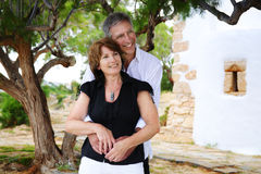 Beautiful mature couple in love Stock Images
