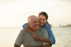 Beautiful mature couple  near  sea Royalty Free Stock Photo