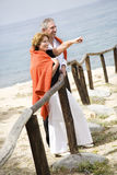 Beautiful mature couple outdoors royalty free stock image